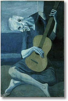 picasso blue guitar