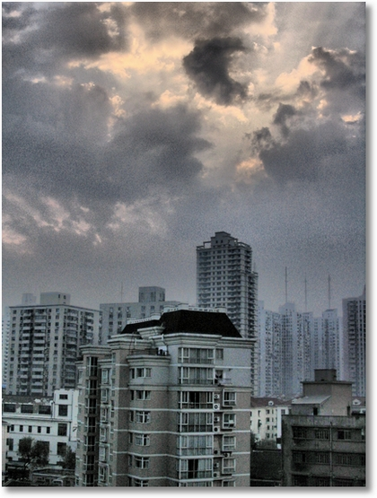 Shangai Morning Skyline HDR